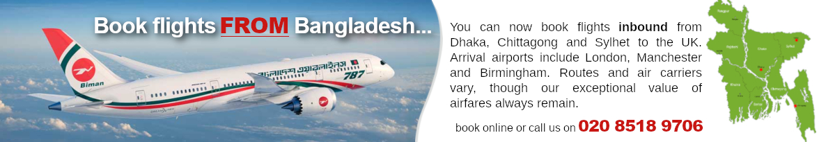 Fly from Bangladesh to UK